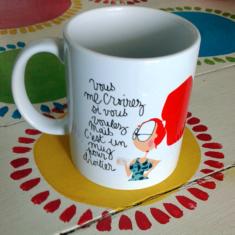 mug pour droitier humour