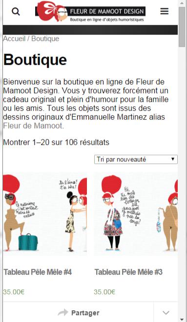 version mobile fleur de mamoot design