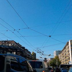 Trolley bus à Genève